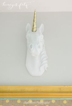 Project Nursery - Honey-and-Fitz-Taylor's-Room-Unicorn-Bust