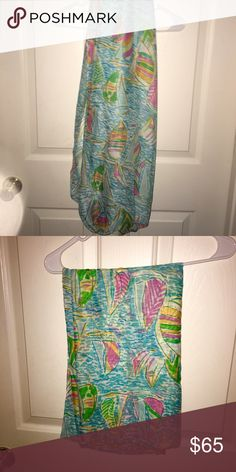 Lilly Pulitzer like infinity regatta scarf Come from a home of smoke free the pattern is spot on for that regatta! Beautiful!! Accessories Scarves & Wraps