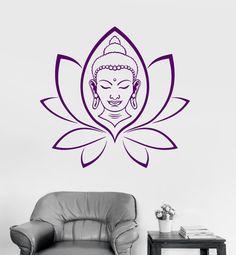 Wall Vinyl Decal Buddha Yoga Lotus Meditation Decor by BoldArtsy