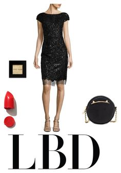 """Minimal LBD look"" by fridagenis ❤ liked on Polyvore featuring Vera Wang, NARS Cosmetics, Betsey Johnson and Bobbi Brown Cosmetics"