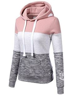- 60% Cotton / 40% Polyester - Pull On closure - Machine Wash Cold / Only Non Chlorine Bleach If Needed / Tumble Dry Low - Long Sleeve Arm Double Line Color Block Pullover Hoodie Sweatshirt - Features long sleeve, hoodie with drawstring and prints detail, double line printed on sleeves, kangaroo pocket, soft and comfortable material - Please be advised to see our size chart for the most accurate fit. - Color disclaimer: Due to monitor settings and monitor pixel definition, we cannot…