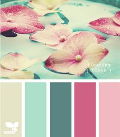 Calm - master bedroom palette? The blues and greyish color are soothing, and the berry would be accent?