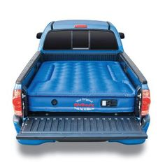 AirBedz Original Truck Bed Air Mattress for Full Sized Short Bed Trucks. Cutouts on each side allow the mattress to fit around and over the wheel wells in a pick up truck, creating a sleep area that utilizes the entire truck bed. Truck Tent, Truck Camping, Family Camping, Tent Camping, Camping Gear, Outdoor Camping, Camping Hacks, Camping Stuff, Camping Equipment