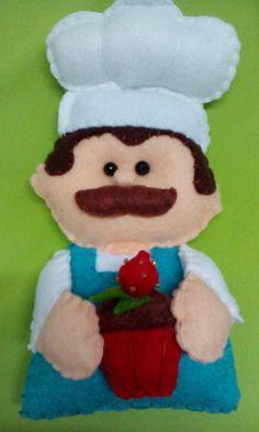 Chef  con cup cake