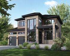 Style At Home, Modern House Plans, Modern House Design, 2 Storey House Design, Contemporary Style Homes, Contemporary Design, Modern Architecture House, Interior Architecture, Dream House Exterior