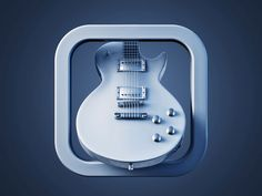 Gibson rendered ios icon, no color