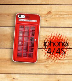 iPhone Case UK Phone Booth Hard Case / Hard by TheCuriousCaseLLC, $16.99