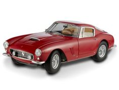 "This Ferrari 250 GT Passo Corto (Elite Version 1961) Diecast Model Car is Red and features working steering, suspension, wheels and also opening bonnet, boot with engine, doors. It is made by Mattel and is 1:18 scale (approx. 24cm / 9.4in long).    One of the most important GT car of its time, the Ferrari 250 GT Berlinetta passo corto ""SWB"" was first unveiled at the 1959 Paris Salon. The designation ""SWB"" indicated the short wheelbase chassis designed for better handling compared to the…"