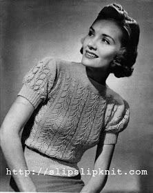 The Vintage Pattern Files: Free 1930's Knitting Pattern - Bellecond Blouse