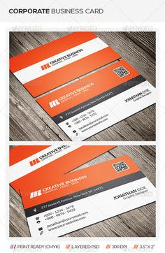 Clean Corporate Business Card Template This Is Suitable For Both And