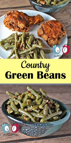 Country Green Beans from Alarm Clock Wars. Are you bored with your regular green bean recipe? Give these Country Green Beans a try next time. Your whole family will love them!