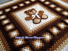 teddy bear crochet blanket pattern