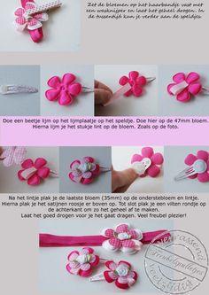 haarbandjes maken - headband DIY #tutorial #haar #hair #bloem #flower