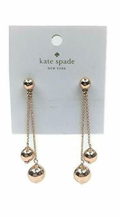 """Kate Spade Women's Rose Gold Tone Dangling Earrings Style # Shiny Rose Gold Mixed Metals 2 ¼"""" Drop Post back closure Kate Spade Earrings, Rose Gold Earrings, Statement Earrings, Dangle Earrings, Gold Necklace, Crystal Rose, Fashion Earrings, Ebay, Jewelry"""
