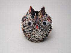 """ Granny Owl"" 3D origami owl sculpture - My Owl Barn"