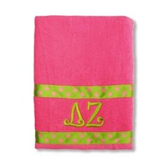Enjoy soaking up the sun on our Sassy Sorority Exclusive Greek beach towel. Our cute towel is made of 100% cotton terry velour and is super soft!