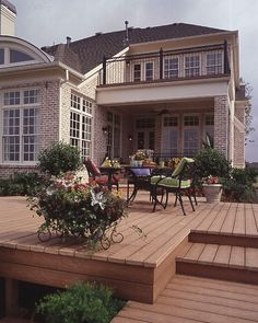 Deck without railings