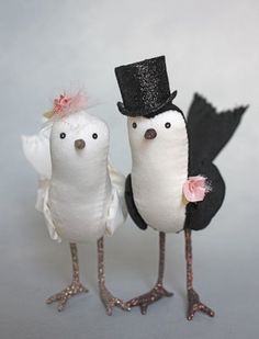 bird cake toppers by