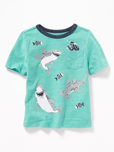 Vintage Style Hammerhead Shark Silhouette 2-6 Years Old Child Short-Sleeved Tee Shirt