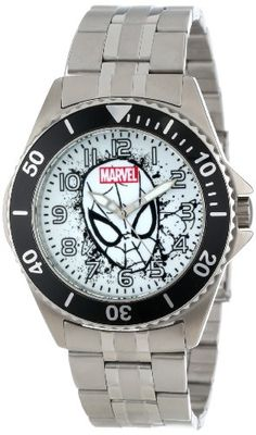 Marvel Comics Men's W001049 Honor Spider-Man Stainless Steel Bracelet Strap Watch -- #NoveltyWatchesGiftIdeas