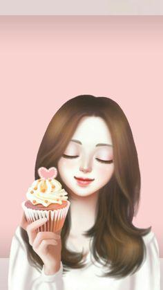 Enakei Lovely Girl Image, Girls Image, Korean Art, Cute Korean, Korean Illustration, Cute Girl Wallpaper, Girl Sketch, Beautiful Drawings, Girl Day
