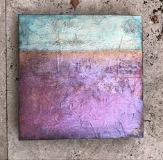 Abstract landscape with pearlescent pigments Abstract Landscape, Art Pieces, Mixed Media, Collage, Pink, Painting, Collages, Artworks, Painting Art