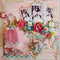 So feminine - Scrapbook.com  ---  Wendy Schultz via Carole Bayne onto Scrapbook Art.