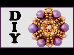 DIY   Blumen Perlen Ketten Anhänger   Beaded flower necklace pendant   Beadwork jewelry - YouTube