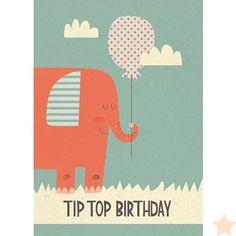 Kaart Tip Top Birthday