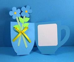 Tea cup card for mom. Add a pocket to hold a real tea bag. Kids Crafts, Preschool Crafts, Diy And Crafts, Arts And Crafts, Paper Crafts, Shaped Cards, Fathers Day Crafts, Mom Day, Grandparents Day