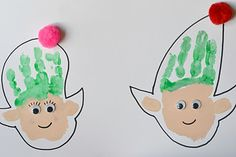 A number of kids crafts designed for the Elves theme, inspired by the prompt me challenge. Tree decorations, a sensory bin for babies...