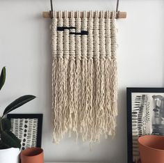 finished 〰 pollypollystudio.etsy.com now on my etsy shop . . . . . . . . . . . . . . • • • • #wip #macrame #modernmacrame  #etsy #fiberart #fiberarts #leeds #yorkshire #wallhanging #home #interior #decor #craft #maker #knots #cottonrope #homeandliving #macramewallhanging #textileart #textiles