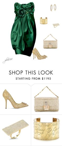"""""""Untitled #1327"""" by julia0331 ❤ liked on Polyvore featuring Zuhair Murad, Dolce&Gabbana, Fendi, Dana Rebecca Designs, Tiffany & Co. and Roberto Coin"""