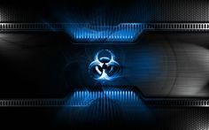 px biohazard wallpaper for large desktop by Woodruff Williams Hi Tech Wallpaper, Metallic Wallpaper, Cool Wallpaper, Wallpaper Backgrounds, Desktop Wallpapers, Iphone Wallpaper, Tech Background, Background Images Hd, Technology Background
