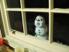 "Snowman by Sam Hill | ""Silly Snowman, if we let you in then you'd melt!"""