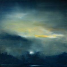 """Moonrise"" oil on canvas  36""x36"""