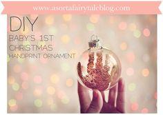 Baby's 1st Christmas - Handprint Ornament. Take 2!