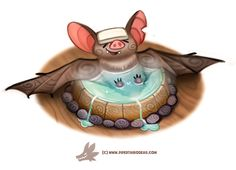 Daily Paint 1299. Bat-house by Cryptid-Creations.deviantart.com on @DeviantArt
