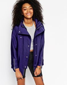 ASOS+Parka+in+Cocoon+Fit+with+Contrast+Liner