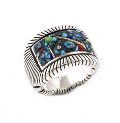 Lander Turquosie Ring, Artist: Raymond Yazzie
