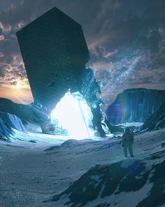everydays - november 2018 on Behance Fantasy Places, Sci Fi Fantasy, Fantasy World, Landscape Concept, Fantasy Landscape, Blender 3d, Art Science Fiction, Sci Fi Environment, Landscape Drawings