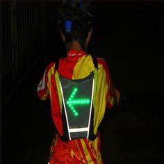 2014 date cyclisme accessoires LED Signal lumineux avec télécommande de contrôle vélo réfléchissant gilet de sécurité pour la sécurité M-04