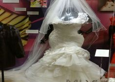 Jenni wore this dress in 2010 when she married Esteban Loaiza. She chose to work with designer Eduardo Lucero for her wedding dress since he has already previously designed her red carpet styles. Courtesy of Jenni Rivera Enterprises.