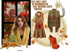 """Fall Has a Way of Reminding Us that Nothing Lasts Forever"" by skr-designs on Polyvore"