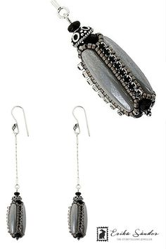 Antoinette Black & Grey Earrings - The Storytelling Jeweller