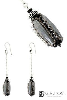 Antoinette Black & Grey Earrings - The Storytelling Jeweller