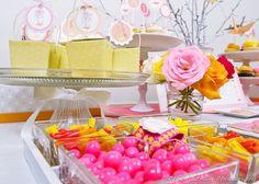 yellow polka dot party favor boxes