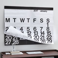 Shop Stendig Calendar A design classic for a reason. Designed by Massimo Vignelli, the large-scale Stendig calendar has been a bold presence on walls for decades yet always looks fresh. Creative Calendar, Holiday Gift Guide, Holiday Gifts, Unique Home Accessories, Small Sculptures, Creative Studio, Crate And Barrel, Getting Organized