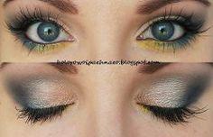 """Dimness"" by alieneczka using the Makeup Geek Galaxy, Mermaid, Shimma Shimma, Shimmermint, Vanilla Bean, and Lemon Drop eyeshadows."