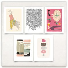 curated art print collection for a 'Little Hipster Girl' on Minted.com